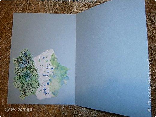 Сегодня я к Вам вот с такими открыточками. В работе использовала картинки, которые раскрасила акварелью и  отрисовала гелевой ручкой. В качестве фона использовала простую бумагу с набрызгом из тех же цветов, что использованы при раскрашивании картинки.Работать с акварелью очень понравилось. У меня есть работы с этим материалом (см. тут http://stranamasterov.ru/node/1041574  и здесь   http://stranamasterov.ru/node/1048915 ) фото 14