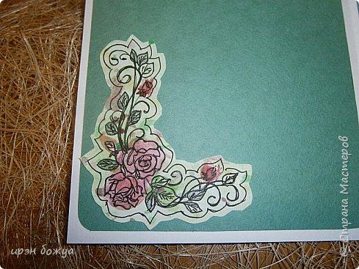 Сегодня я к Вам вот с такими открыточками. В работе использовала картинки, которые раскрасила акварелью и  отрисовала гелевой ручкой. В качестве фона использовала простую бумагу с набрызгом из тех же цветов, что использованы при раскрашивании картинки.Работать с акварелью очень понравилось. У меня есть работы с этим материалом (см. тут http://stranamasterov.ru/node/1041574  и здесь   http://stranamasterov.ru/node/1048915 ) фото 6
