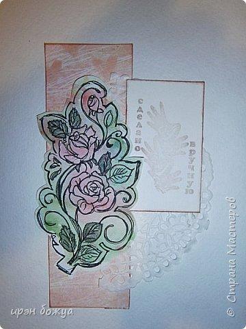 Сегодня я к Вам вот с такими открыточками. В работе использовала картинки, которые раскрасила акварелью и  отрисовала гелевой ручкой. В качестве фона использовала простую бумагу с набрызгом из тех же цветов, что использованы при раскрашивании картинки.Работать с акварелью очень понравилось. У меня есть работы с этим материалом (см. тут http://stranamasterov.ru/node/1041574  и здесь   http://stranamasterov.ru/node/1048915 ) фото 8