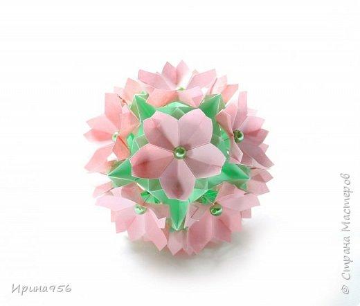 Основа - Little Turtle Tomoko Fuse 30 модулей 11х11 см. МК http://all-origami.livejournal.com/66074.html Цветы (автор Alexandra Abovyan), 12 шт., из 60 прямоугольных равнобедренных треугольников с гипотенузой 8,6 см. Видео https://www.youtube.com/watch?v=dkR-oEx5RZQ Размер - около 13 см. фото 11