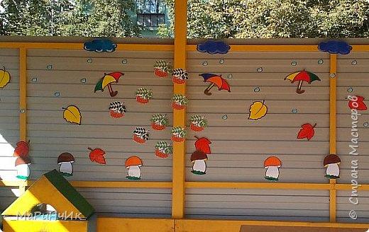 Осеннее оформление беседки в детском саду. фото 3