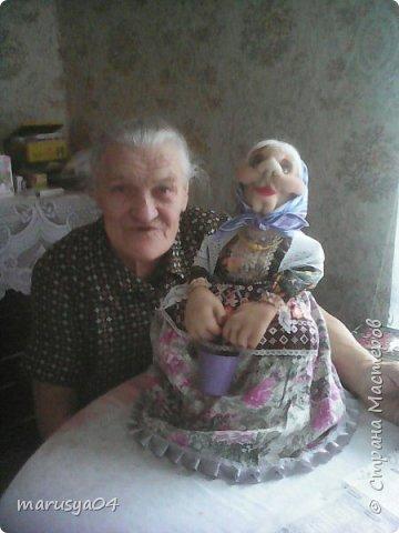 Вот очередная бабуля уродилась - на 80-летие хорошей соседки. В руках ведро с молоком. фото 14