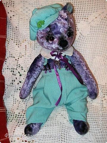 Привет, Страна!!! Представляю вам , мои дорогие соседи, новиночку - медвежонка Сёму. Мальчишка добрый и любознательный, рост 35 см., сшит из винтажного плюшика пятидесятых годов. Набивка - синтепух , глазки стеклянные. фото 4