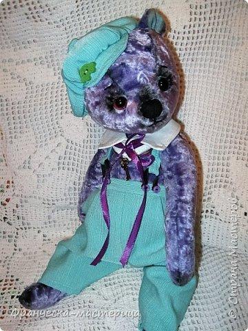Привет, Страна!!! Представляю вам , мои дорогие соседи, новиночку - медвежонка Сёму. Мальчишка добрый и любознательный, рост 35 см., сшит из винтажного плюшика пятидесятых годов. Набивка - синтепух , глазки стеклянные. фото 3