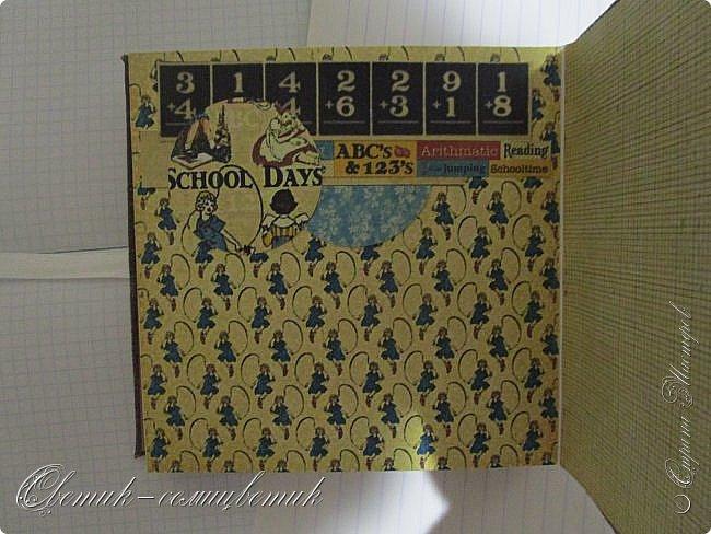 Доброго осеннего дня Всем! У меня школьный альбомчик для моей любимой одиннадцатиклассницы) Размер альбома 15х15см. Бумага Graphic45 Школа. фото 8