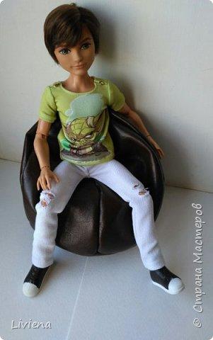 Пошила я своему ненаглядному кресло-мешок) Показалось, что великовато, но для мальчика - отличный размер) фото 1