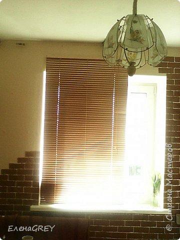 """Давно я затевалась с ремонтом на кухне, но все не могла придумать, что сделать с наружной стеной. Обои клеить не хотела, виделось что-то либо декоративная побелка, либо """"кирпичики"""".  фото 5"""