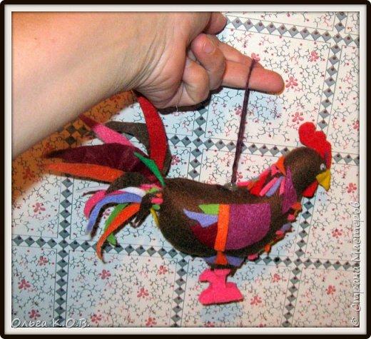 Шитье петушков из фетра фото 4