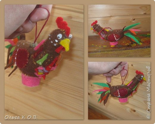 Шитье петушков из фетра фото 10