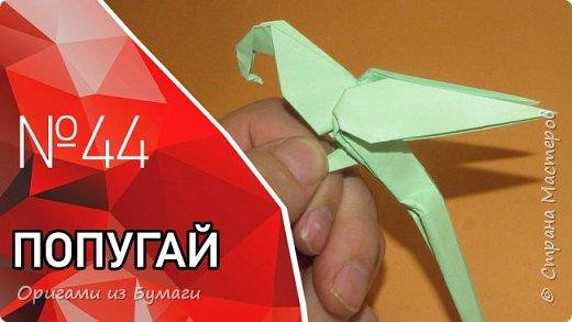 Оригами попугай