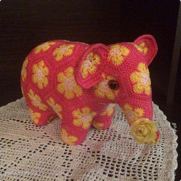 Всем жителя СМ доброго дня. Я сегодня к вам со своими проделками. Навязались игрушки с африканского цветка. Ох и затягивает)) Это мишка Снежка фото 6