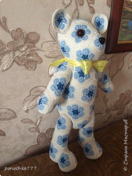 Всем жителя СМ доброго дня. Я сегодня к вам со своими проделками. Навязались игрушки с африканского цветка. Ох и затягивает)) Это мишка Снежка фото 2