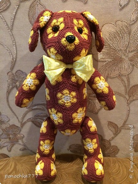 Всем жителя СМ доброго дня. Я сегодня к вам со своими проделками. Навязались игрушки с африканского цветка. Ох и затягивает)) Это мишка Снежка фото 3