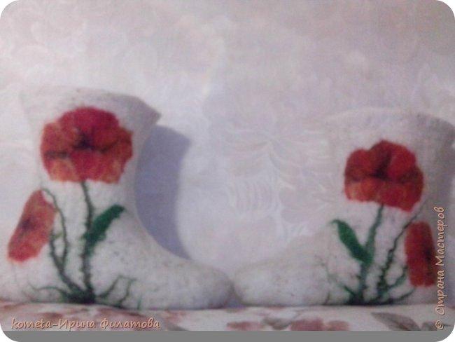 Валеночки сваляны из шерсти наших сибирских овечек фото 2