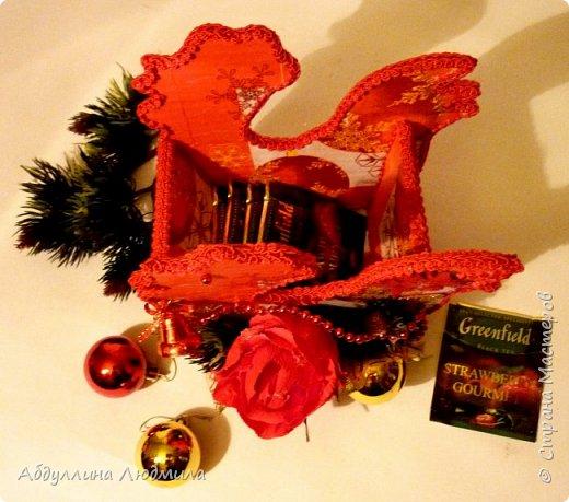 Скоро Новый год!!! Уже захотелось сделать что- то  к празднику!!! Подставочки под чайные пакетики!!! фото 3
