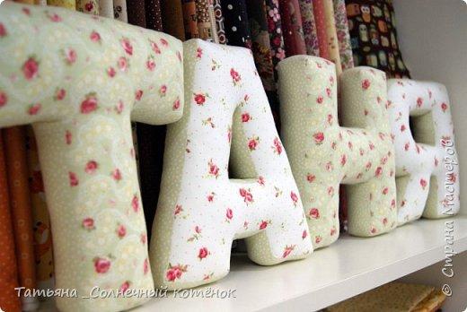 Интерьерные текстильные буквы фото 2