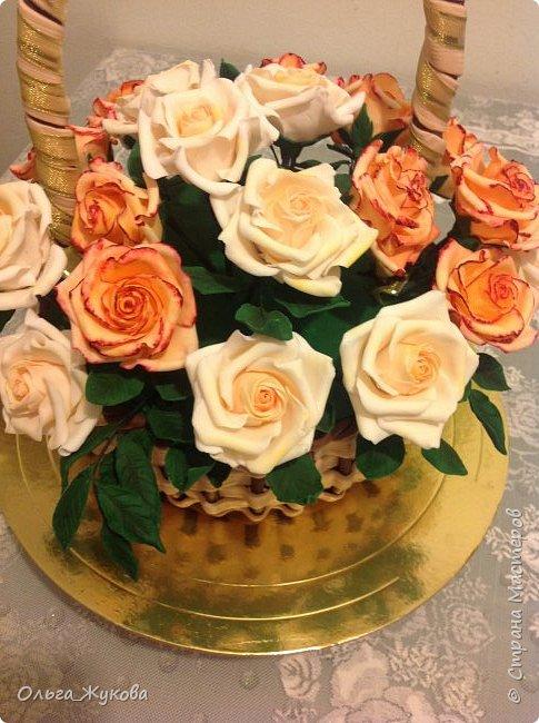 Всем доброго времени суток! Снова розы... Теперь аж целая корзина)))  фото 3