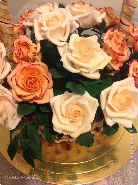 Всем доброго времени суток! Снова розы... Теперь аж целая корзина)))  фото 4
