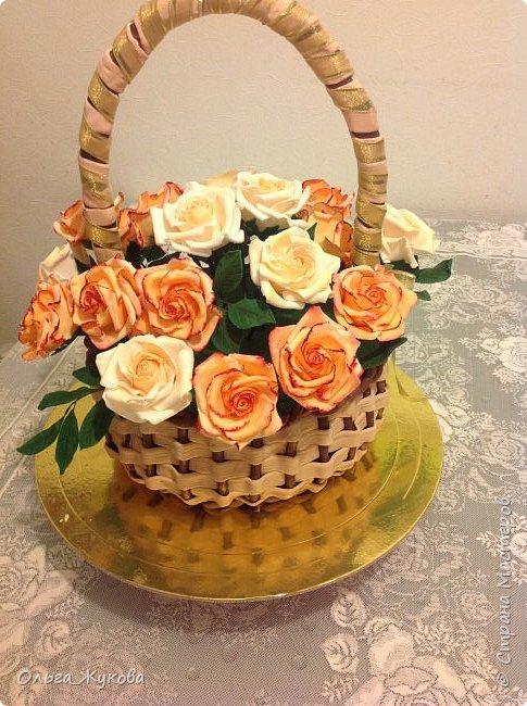 Всем доброго времени суток! Снова розы... Теперь аж целая корзина)))  фото 5