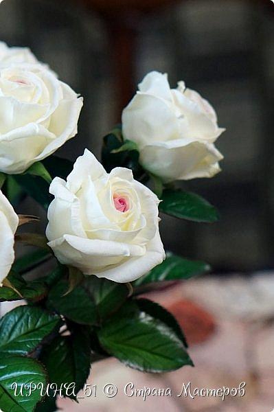Здравствуйте! Сегодня я с букетом роз. Цветы выполнены из зефирного фома.  Приглашаю к просмотру.  фото 17