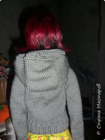 и снова одежда  для Широ. на этот раз вязанная кофта с капюшоном. по немного одеваю своих кукол))). их много а я одна. поэтому все не очень быстро.... фото 4