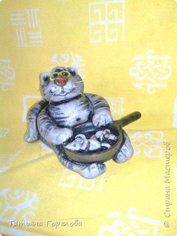 """От рыб этот гурман уже устал. Перешел на мышей, причем жаренных. Сковородка - деревянное """"белье"""". фото 2"""