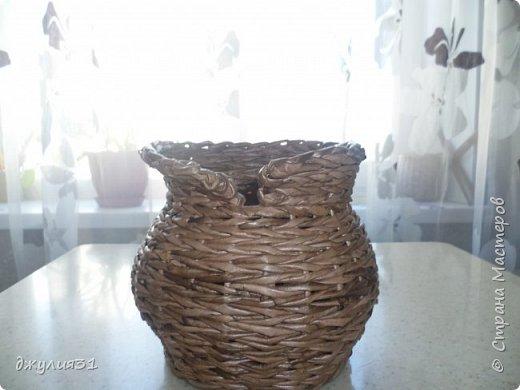 Доброго времени суток!!! как и обещала покажу, как вазу делаю я (придумка  конечно же не моя, но ее МК в стране не видела........) ВМ- дуб сильно разбавленный, 1/4 листа А4, но поперек разрезанного (такая попалась потребительская бумага и трубочки здесь использованы короткие) спица 1,5мм фото 12