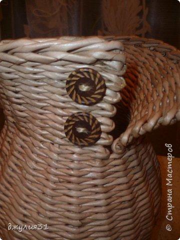 Доброго времени суток!!! как и обещала покажу, как вазу делаю я (придумка  конечно же не моя, но ее МК в стране не видела........) ВМ- дуб сильно разбавленный, 1/4 листа А4, но поперек разрезанного (такая попалась потребительская бумага и трубочки здесь использованы короткие) спица 1,5мм фото 1