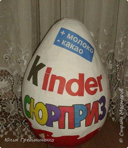 Большой Киндер Сюрприз - мечта любого ребенка.Это отличный подарок ко дню рождения киндер сюрприз», который порадует своей оригинальностью и размером  фото 18