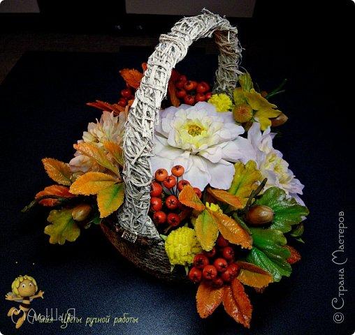 Осенняя композиция из холодного фарфора фото 3