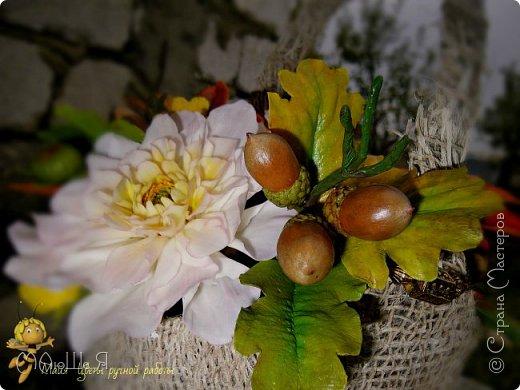 Осенняя композиция из холодного фарфора фото 4