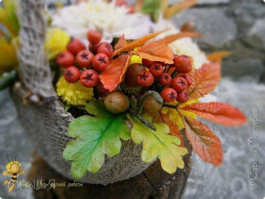 Осенняя композиция из холодного фарфора фото 6