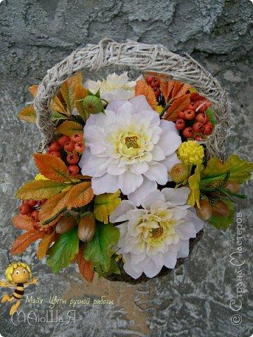 Осенняя композиция из холодного фарфора фото 8