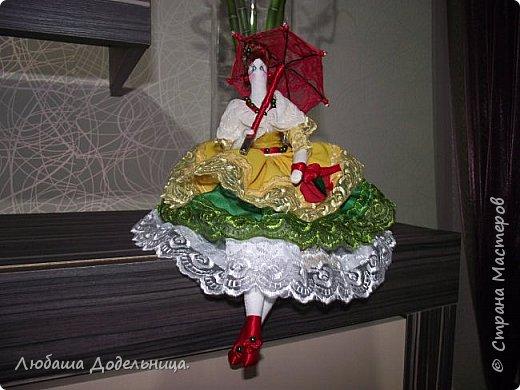куколка тильда с зонтиком. фото 1