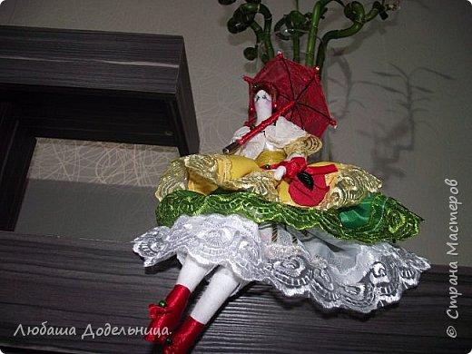 куколка тильда с зонтиком. фото 4