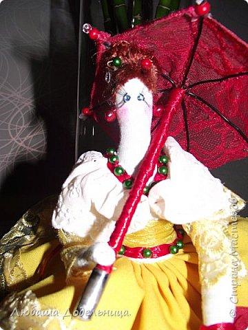 куколка тильда с зонтиком. фото 6