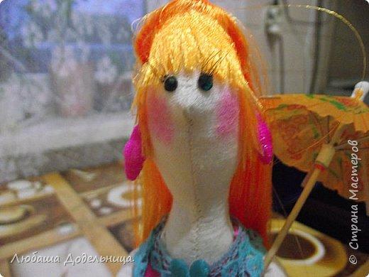 куколка тильда с зонтиком. фото 12