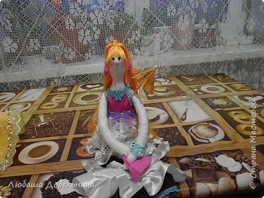 куколка тильда с зонтиком. фото 13