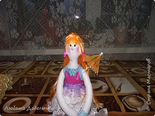 куколка тильда с зонтиком. фото 14