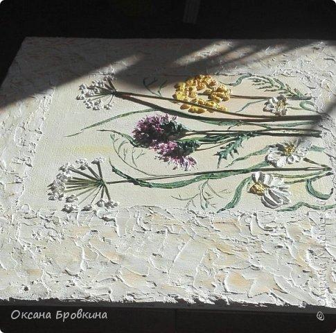 """Объемное панно """"Полевые цветы"""" фото 3"""