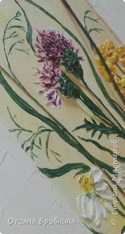 """Объемное панно """"Полевые цветы"""" фото 2"""