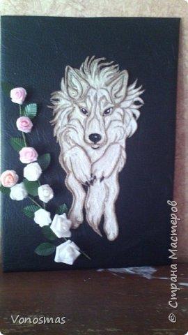 Салют мастера!! нужна ваша помащь  Сделал волка и розы из остатков фома, посоветуйте как еще можно Задекорировать панно. фото 7