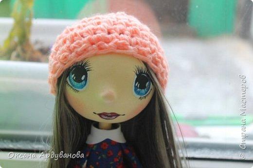 Кукла сделана из фоамирана,Использовала трессы для кукол (волосы)платье из ситца. фото 3