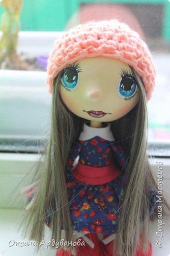 Кукла сделана из фоамирана,Использовала трессы для кукол (волосы)платье из ситца. фото 1