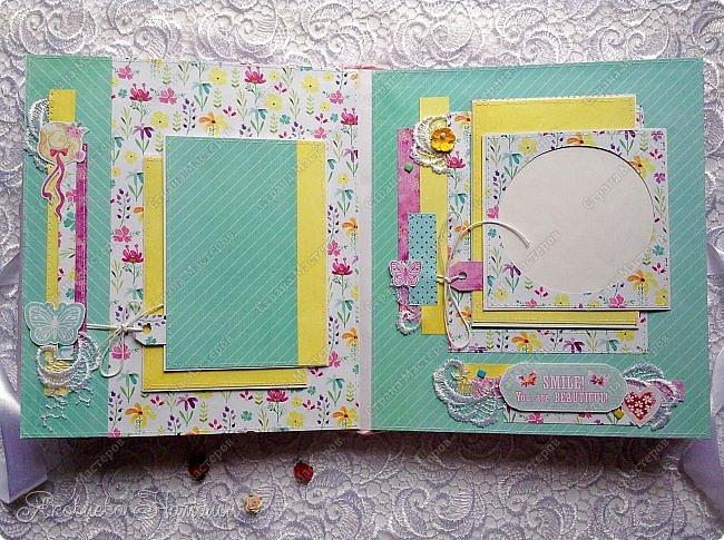 """Альбом для девочки попросили сделать в подарок на день рождения. Выбрала бумагу из коллекции Bee Shebby """"Sweet GERL"""". Очень она мне понравилась! фото 4"""