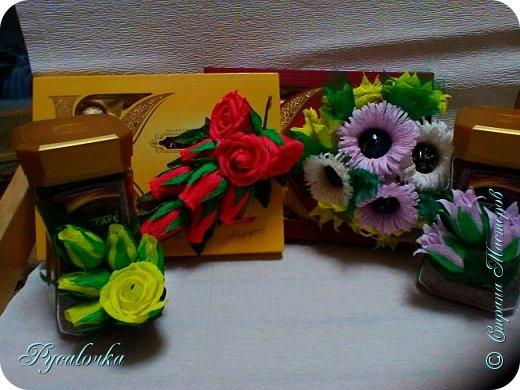Здравствуйте! Сегодня хочу показать Вам свой свит-дизайн. На день учителя украшала кофе и коробку конфет. фото 1