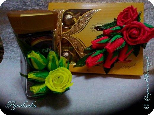 Здравствуйте! Сегодня хочу показать Вам свой свит-дизайн. На день учителя украшала кофе и коробку конфет. фото 2