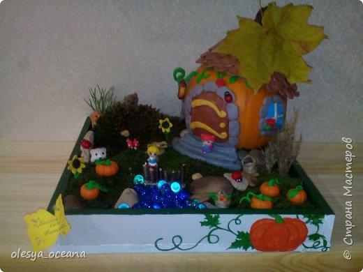 """Доброго времени суток.) Сегодня я покажу, не МК, а скорее просто фотографии нашей поделки в детский сад, на тему """"Осень"""". Ну и немного опишу нашу поделку. фото 1"""