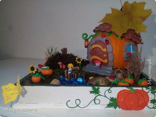 """Доброго времени суток.) Сегодня я покажу, не МК, а скорее просто фотографии нашей поделки в детский сад, на тему """"Осень"""". Ну и немного опишу нашу поделку. фото 4"""