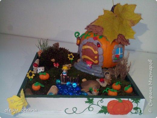"""Доброго времени суток.) Сегодня я покажу, не МК, а скорее просто фотографии нашей поделки в детский сад, на тему """"Осень"""". Ну и немного опишу нашу поделку. фото 6"""